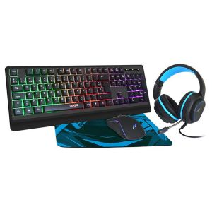 Kit Gamer Teclado + Mouse + Pad + Auricular Noga NKB-405