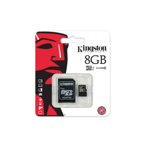 Memoria 8GB Kingston Micro SD con adaptador Clase 4