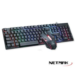 Kit Gamer Teclado + Mouse NM-NEMESIS Netmak Retroiluminado
